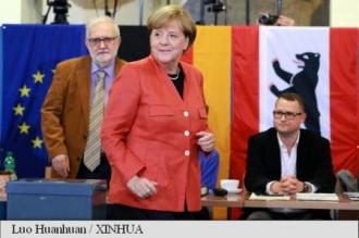 Partidul Angelei Merkel câștigă scrutinul; record negativ al social-democraților; extrema-dreaptă pe locul trei