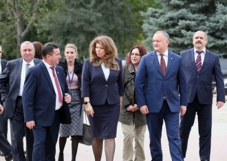Igor Dodon și Iliana Iotova, în vizită de lucru în raionul Taraclia