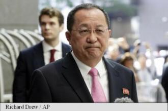 Ministrul de externe nord-coreean amenință SUA cu 'o ploaie de foc'