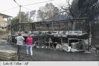 Doliu național de trei zile în Portugalia în urma incendiilor mortale