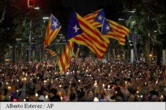 Spania: 200.000 de persoane au manifestat la Barcelona pentru eliberarea a doi lideri separatiști