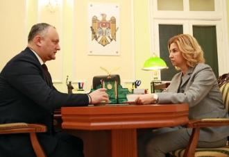 Situaţia din autonomia găgăuză şi din ţară, discutată de Igor Dodon și Irina Vlah