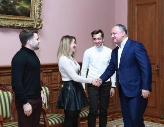 Tinerele talente din Moldova, susținute în continuare de Președintele țării