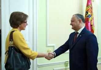 Ultimele evenimente din Moldova, inclusiv conflictul instituțional, discutate de Igor Dodon și ambasadorul Germaniei