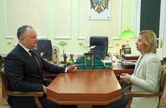 Bașcanul Găgăuziei, la discuții cu șeful statului