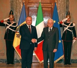 Igor Dodon a solicitat Președintelui Italiei semnarea unui acord de protecție socială