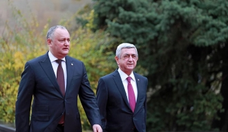 Igor Dodon s-a întâlnit cu omologul său Serzh Sargsyan