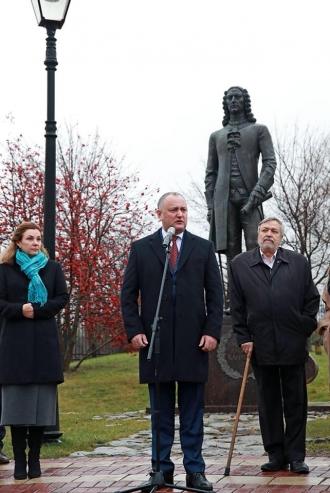 Monumentul lui Dmitrie Cantemir, inaugurat la Moscova