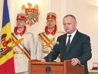 Dodon: Problema transnistreană a fost reinclusă în agendă, cu regim prioritar atît pentru Guvernul, cît şi pentru Parlamentul RM