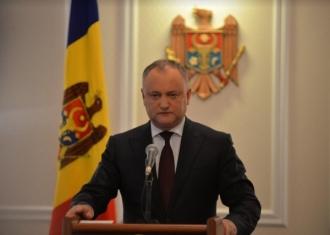 Dodon: Republica Moldova de astăzi este o continuare legitimă, istorică și de drept a Moldovei istorice și a Republicii Democratice Moldovenești, creată la 2 decembrie 1917