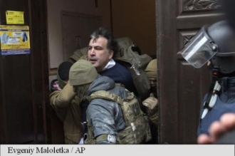 Fostul președinte georgian Mihail Saakașvili, arestat la Kiev