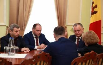 Președintele țării a desfășurat o ședință de lucru cu președintele PSRM, deputați și reprezentanți ai Președinției