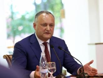 Igor Dodon: În 2017 a fost recuperată încrederea cetățenilor în instituția prezidențială