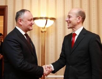 Dodon: Moldova tinde de a promova un dialog consistent de durată între Moldova şi Germania