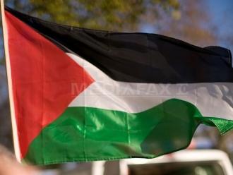 Protestatarii palestinieni au dat foc la pancarte cu portretul vicepreşedintelui SUA