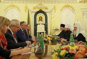 Șeful statului, la sfat cu Patriarhul Kiril