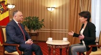 Igor Dodon o oferit interviul promis pentru jurnalista Irada Zeynalova