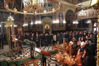 """De Bobotează, șeful statului a participat la Sfînta Liturghie de la Catedrala """"Nașterea Domnului"""""""