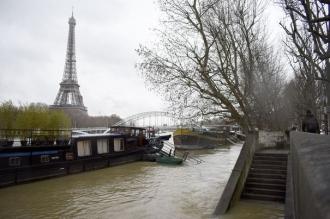 Nivelul fluviului Sena a crescut, în Paris, până la 5,82 metri peste cotele normale