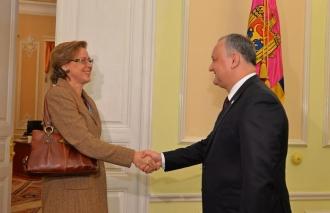Ambasadorul Germaniei în Moldova, la discuții cu Președintele Igor Dodon