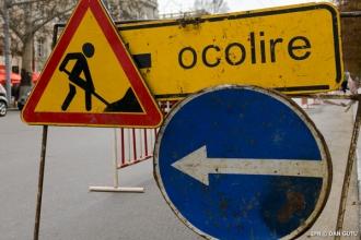 Trafic suspendat pe o stradă din capitală