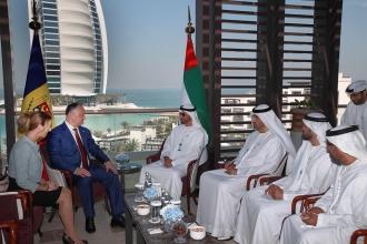 Șeful statului a avut o întrevedere cu comandantul adjunct al Forțelor Armate ale Emiratelor Arabe Unite