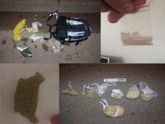 Opt persoane au fost reținute de polițiști, pentru trafic de droguri