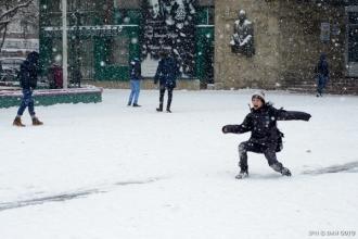 Peste 130 de elevi nu au ajuns la școală din cauza ninsorii