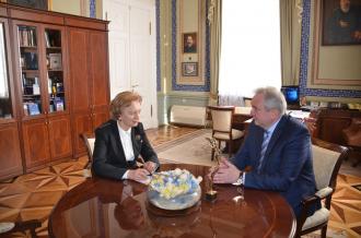 Zinaida Greceanîi s-a întîlnit cu Serghei Antufiev
