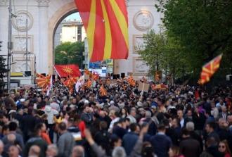 Noi proteste au fost organizate în Macedonia împotriva schimbării numelui fostului stat iugoslav
