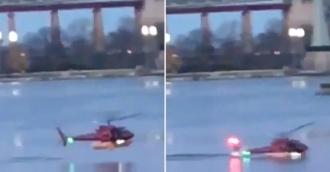 Elicopter PRĂBUŞIT la New York: Două persoane au murit, iar alte trei sunt în stare critică
