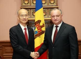 Relațiile dintre Moldova și China, discutate de Igor Dodon și ambasadorul acestei țări
