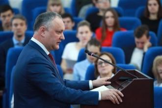Igor Dodon: Problema demografică este problema numărul unu pentru Moldova