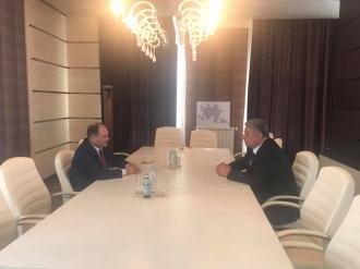 Ion Ceban s-a întîlnit cu ministrul tineretului și sportului din Azerbaidjan