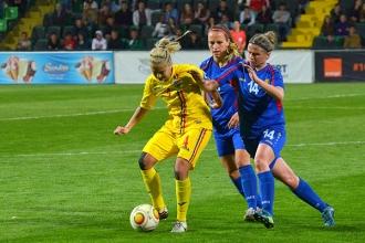 Naționala feminină a remizat cu România
