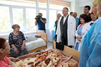 Secția terapie și boli cronice din cadrul spitalului din Vulcănești, inaugurată în prezența lui Dodon