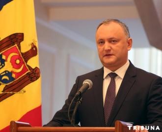Igor Dodon îi felicită pe moldoveni cu ocazia victoriei asupra fascismului