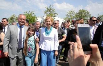 """Igor Dodon a participat la evenimentele festive organizate cu prilejul sărbătorii """"Hederlez"""""""