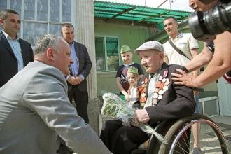 """Unicul veteran de război rămas în viață din satul Copanca, decorat cu """"Ordinul Republicii"""""""