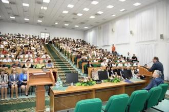 """Ion Ceban, la discuții cu cadrele didactice și studenții de la Universitatea de Stat de Medicină și Farmacie """"Nicolae Testemițanu"""""""