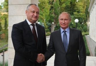 Igor Dodon l-a felicitat pe Vladimir Putin cu ocazia învestirii în funcția de președinte al Federației Ruse