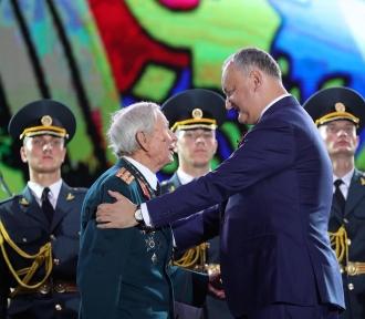 Dodon: Trebuie să cinstim fiecare veteran care a luptat pentru Marea Victorie