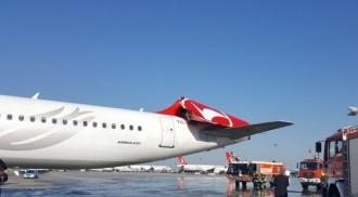 Incident aviatic pe Atatürk; Două aeronave de pasageri s-au CIOCNIT în timpul rulării pe o pistă a aeroportului din Istanbul
