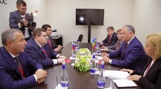 """Cooperarea economică moldo-rusă, discutată de Igor Dodon și liderii organziației """"Delovaia Rossia"""""""