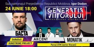 """Concertul dedicat Festivalului """"Generația viitorului"""", se va desfășura pe stadionul din curtea Universității Tehnice"""