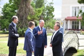 Igor Dodon efectuează o vizită de lucru în regiunea de sud a țării