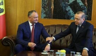 Igor Dodon l-a felictat pe Recep Tayyip Erdoğan cu victoria obținută în alegerile prezidențiale