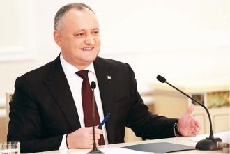 Igor Dodon a prezentat bilanțul activității sale pentru perioada de 18 luni de mandat