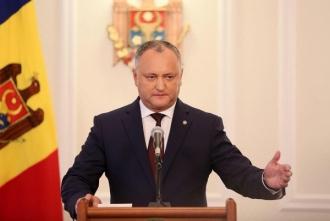 Igor Dodon: Liderii protestelor de la Chișinău sunt cei care au făcut afaceri cu Plahotniuc