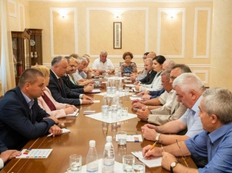 Conducătorii organizațiilor etno-culturale din Moldova, la discuții cu Igor Dodon